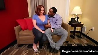 Mega Melons Maggie Green Takes Big Black Cock Rome Major!