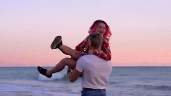 Hard Sex Of Maryana Rose After A Romantic Date On The Beach. My Boyfriend With Big Cock Fucked Me In A Wet Pussy