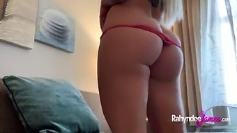 Busty Natural Tits Submissive Slut Rubbing Her Pussy