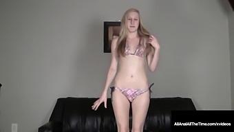 Smiling 19yo Teen Ava Love Butt Fucked Rimmed & Creampied!