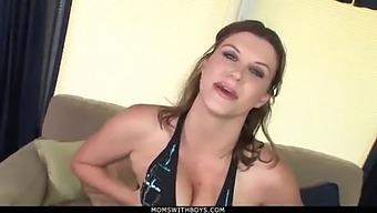 Momswithboys - Boob Fucked Milf Sara Stone Takes On Big Cock