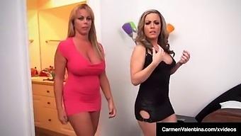 Carmen Valentina & Amber Lynn Bach Do Some 4some Fucking!