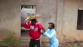 A Blind Woman Went To Fetch Some Firewood In The Bush, A Village Prince Came To Help Her Then Took Her Home For A Nice Fuck