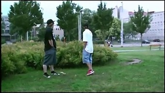 A Young Pretty Teen Blonde Girl Is Fucked In Public By 2 Guys On The Street With A Blowjob Sucking Dicks And Vaginal Pussy Sex Penetration With All The Cars And Trucks Passing By Watching The Risky Orgy