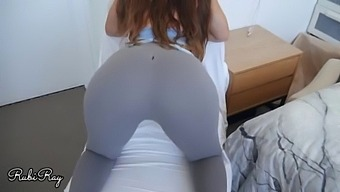 Ripped Yoga Pants And Cumming On My Step Sister Tight Pussy