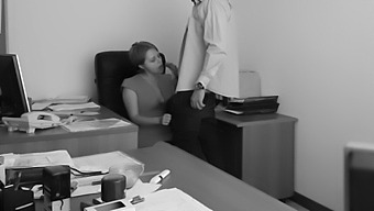 The Boss Fucks His Employer At The Office Table And Films It On Hidden Cam