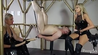 22 Inches Deep Inside - Pegging By Mistress Athena And Lady Dark Angel