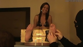 Stella Tickled In The Stocks - (Partial Clip)