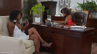 Layla Sin And Misty Stone Have Steamy Interracial Lesbian Sex In The Office