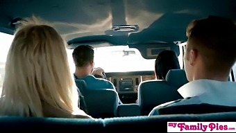 Hot Blonde Chloe Couture Fucks Step Bro In Back Seat On Family Vacation