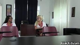 Cristi Ann And Jenna Foxxx Detention Lesbians!