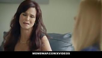 Lustful Curvy Stepmoms Karen Fisher And Syren De Mer Teach Stepsons About Sex
