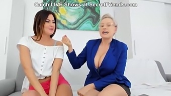 Angel Wicky Oils Up Cindy Shine Live