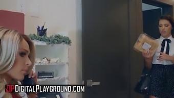 (Emma Hix, Riley Reid) - A Cold Night In December Part 2 - Digital Playground
