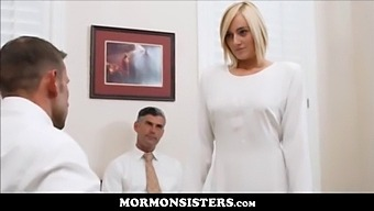 Blonde Thick Mormon Teen Kate England Masturbates To Orgasm In Front Of Her Father