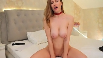 She Put On The Collar And Cum