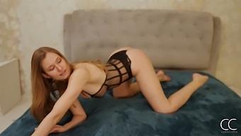 Stripting From Stella Cardo With Erotic Masturbation Elements