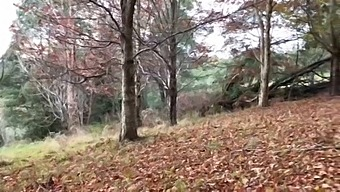 Quick, Nervous Fuck Out In Nature While Hiding From Cars.