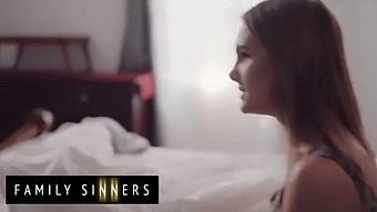 Brad Newman Cant Resist His Step Daughter (Natalie Knight) When She Sneaks Into His Bed - Family Sinners