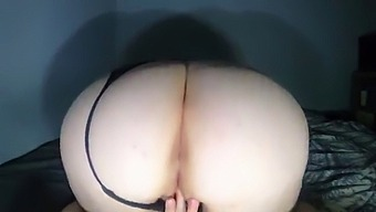 Fat Ass Amateur Rides Dildo And Stretches Pussy Cumming Hard