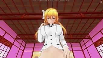 3d Hentai Pov Mayuri Orgasms Riding Your Cock