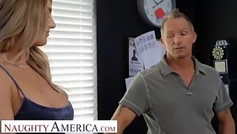 Naughty America - Kayley Gunner Fucks Detective London At The Police Station