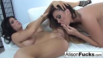 Alison Tyler & Romi Rain Fuck Each Other Really Hard