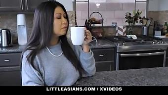 Asian Stepmom Krystal Davis Gives Stepdaughter Avery Black A Geisha Lesson