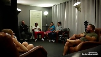 Gangbang Creampie - Petite Redhead Babe Having Tons Of Fun Bts And Getting Fucked In Interracial Gangbang